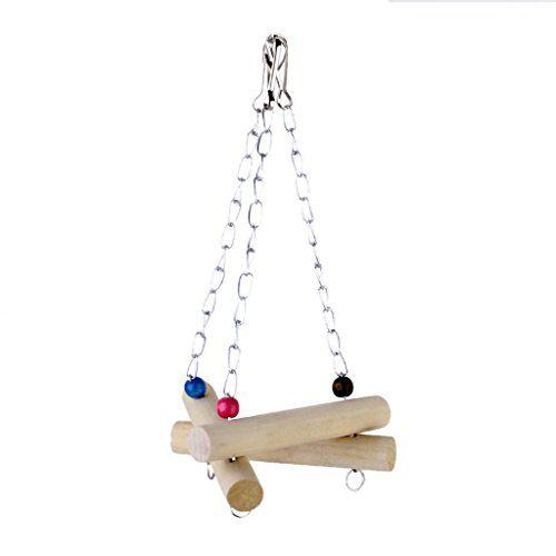 Triangulo de Aves para jaula, juguetes para pajaros