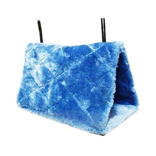 PIXNOR aves Animal peluche acurrucarse hamaca colgante acurrucarse cueva choza feliz Hideaway – tamaño S (azul)