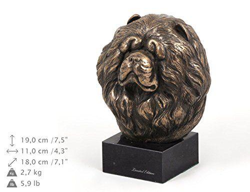Chow chow, perro estatua de marmol, ArtDog
