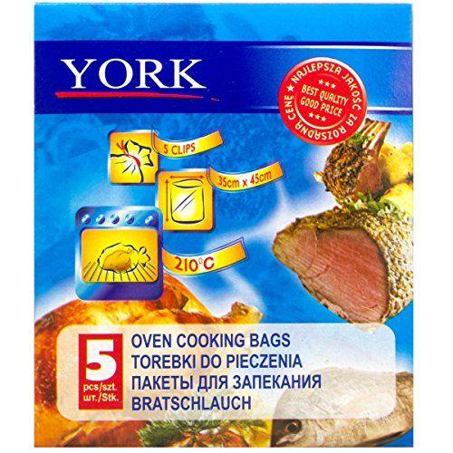 Bolsas para cocinar York Horno, de 5 piezas Set, 35×45 cm, con clips, EF340303