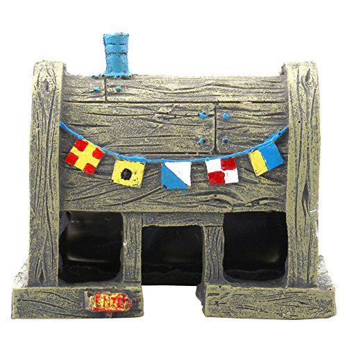 Decoración Ornamento Adorno para Acuario Pecera Forma de Casa , mascotas