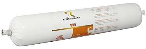 Ritzenberger, Alimento para perros, Venado – pura carne, 5 x 500g, Alimento húmedo completo