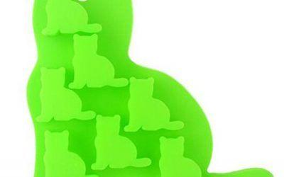 Vabneer galletas taza del mollete de la torta de la hornada molde de siliconas la forma para Magdalenas, Muffins, Gelatina, Snacks, Helados, Tartas heladas, Postres Chocolates Utencilios para hornear Moldes gato verde , mascotas