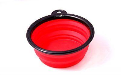 Viajes Tazón de la marca PRECORN Perro Gatos Mascotas plato del alimento tazón plegable cuenco de agua en el color rojo