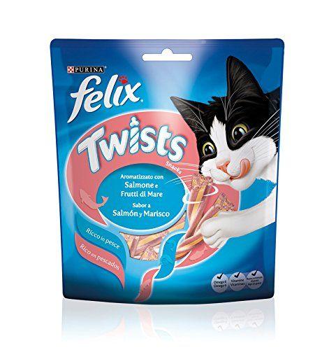 Felix – Alimento para gatos Sabor a Salmón y Marisco Snacks, 50 g
