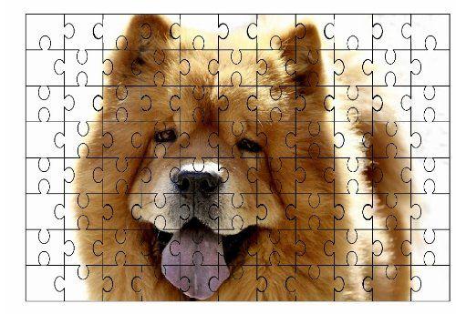 Chow Chow (dorado) de perro 96piezas Jigsaw Puzzle 72