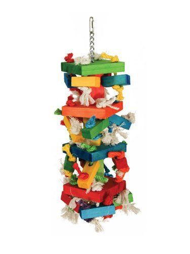 Algodón bloque cuerda de color Juguetes estación no tóxico Chew Toys oscilación loro loro grande , s