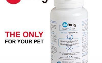Suplemento natural para la piel de tu mascota, colageno para la piel y acido hialuronico para tu perro y gato, colageno piel para paliar la dermatitis en perros, Colágeno + Acido Hialurónico y vitaminas para perros DAONLY