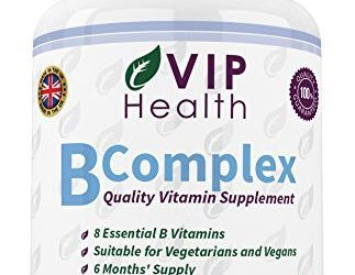 Vitamina B Compleja 180 Comprimidos (6 Meses de Suministro) por VIP Health – Todas las Ocho Vitaminas B en un Comprimido B1, B2, B3, B5, B6, B12, Ácido Fólico y Biotina B-Complex , mascotas