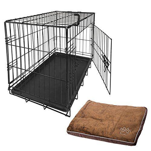 Nemaxx Transportín-Caja de mascotas-Jaula Multifunción Tamaño S en Negro + Almohada