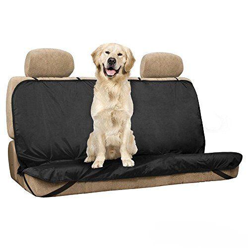 Cubierta de asiento para mascotas – SODIAL(R)Nuevo Mascotas / Gatos / Perros Cubierta de Asiento Mat Impermeable Asiento Trasero del Coche Cubierta Bench Protector con Cinturones, Negro