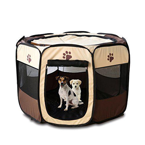 Mascota Perro Gato Parque jaula Crate–Portátil plegable ejercicio de la perrera–uso en interiores y exteriores