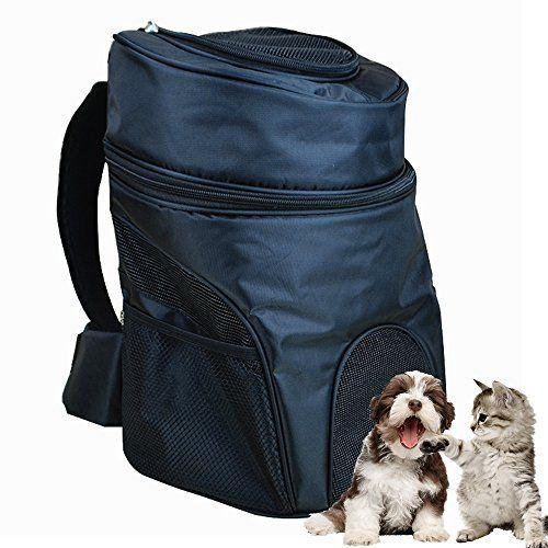 Aoxsen – mochila doble para transportar mascota, de hombro, grande, para Perro, Gato, mascota, trasportín portátil delantero y trasero, aprobada para avión, con orificios de malla transpirable, para viajar, Camping