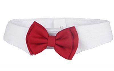 Ajustable formal perro de mascota de gato pajarita corbata traje de collar accesorios para fiesta de la boda de vacaciones Tamaño L 37cm 14.6 pulgadas de longitud