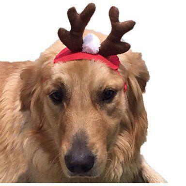 ed3c2180ea70 Disfraces Accesorios de Pelo Ropa para Perro Cosplay Navidad Sólido ...