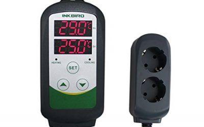 Inkbird ITC-308 Plug-n-Play Doble Rele 220v Termostato Digital con Sonda, Refrigeración y Calefaccion Controlador de Temperatura para Calentador Acuario y Peceras, Bomba de Agua, Incubadoras Reptil, Kit Cerveza Artesanal