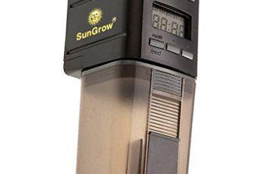 SunGrow – Alimentador automático para peces, con microordenador, cómodo y sencillo de instalar en peceras y acuarios, ideal para un uso diario. , mascotas