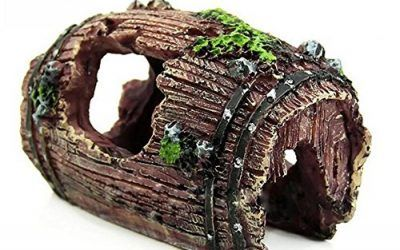 Outflower 1PC Decoración del acuario Barril de resina decorativa decoración de pecera,9.5*7*5 CM , mascotas
