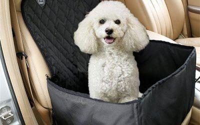 Ewolee Funda para Coche Perros, Funda Impermeable para Perros Asiento Coche, Protector para Coches Perros, Hamaca para Mascotas Perros y Gatos – Negro