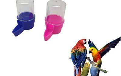 Ducomi® Juego de 2dispensadores de aguas y comida de jaula para aves–abbeveratoi para pájaros