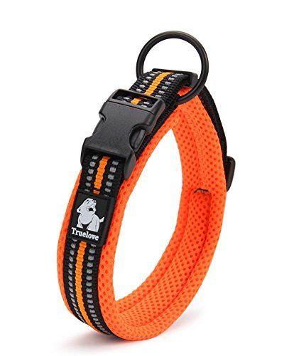 Rantow Collar de perros de malla suave y resistente Collar de perro de seguridad ajustable cómodo para perros pequeños / medianos / grandes (naranja) (XS 30-35cm)