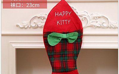 HOMEE Calcetines de Navidad Necesidades Diarias de Navidad Calcetines de Peces de Navidad Calcetines de Modelado Bolsas de Regalo de Navidad,A