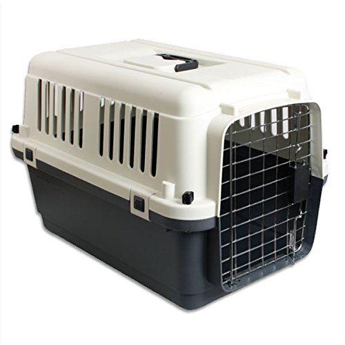 Caja de transporte de acuerdo con los requisitos de la IATA para el transporte de animales vivos