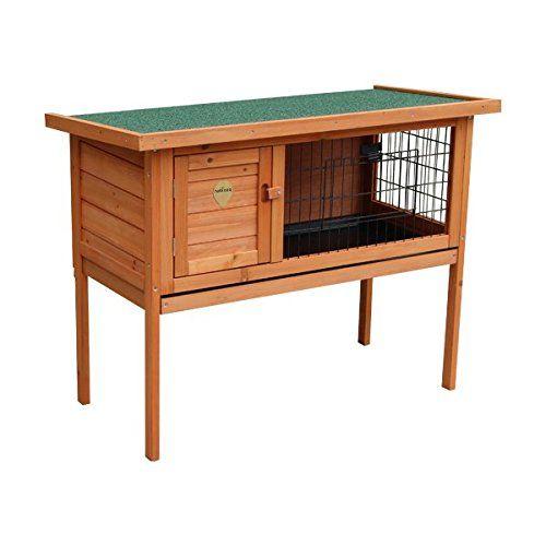 Casa para conejos Nobleza, estructura de madera, alto 70cm. Envío gratis.