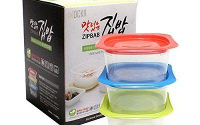 dckr Auto vapor microondas recipientes herméticos con tapas 3unidades–BPA libre sistema de descarga de vapor de almacenamiento de alimentos caja de almuerzo de color al azar