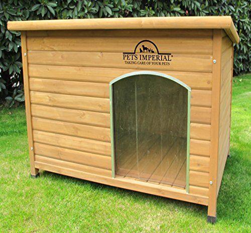 Perreras Imperial – Caseta de perro individual extra grande con madera Norfolk con suelo extraíble para fácil limpieza