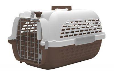 Dogit Transportín para Perros, Talla Grande, Color Marrón y Blanco, 61 x 41 x 36 cm