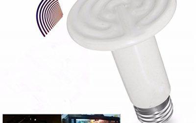UEETEK Emisor de calor de cerámica Sin daños Sin luz Lámpara de calentamiento por infrarrojos Bombilla de calor de reptiles 150 W (Blanco)