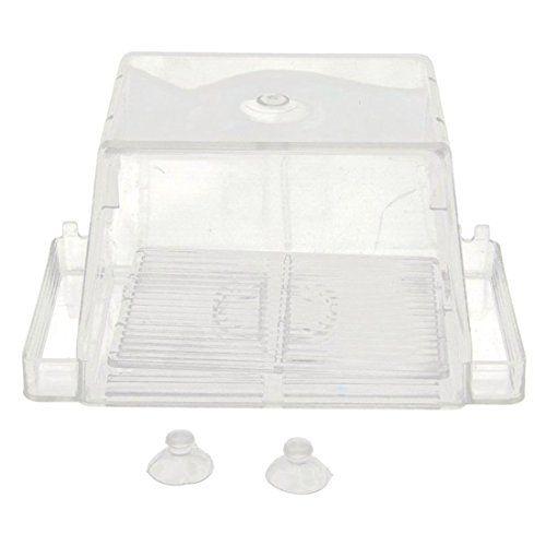 Caja de incubacion Acrilico – TOOGOO(R) Caja de cria aislamiento auto flotante de peces de acuario criadero criador Case(Transparent)