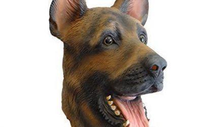 Máscara / Careta de Latex de Perro Pastor Alemán – Disfraz de Animal , mascotas