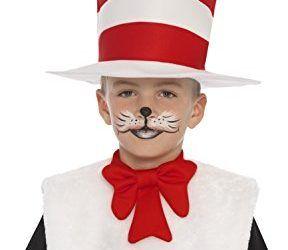 Smiffy's – Dr.Seuss, disfraz del gato en el sombrero, color blanco y rojo (25731)