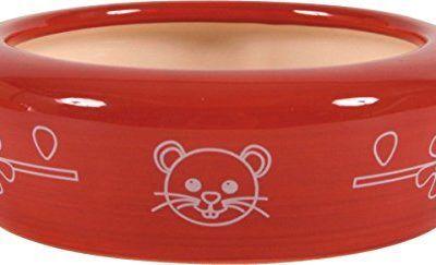 écuelle cerámica Gran Modelo para roedores cereza 700ml Diámetro 17cm).
