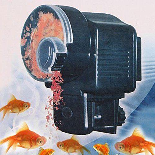 Alimentador automático de peces, qhj automático peces de acuario tanque temporizador alimentador de alimentos