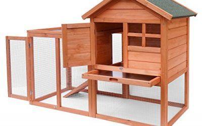 Conejera de conejo, armario abierto, refugio elevado, madera de abeto, para mascotas , mascotas