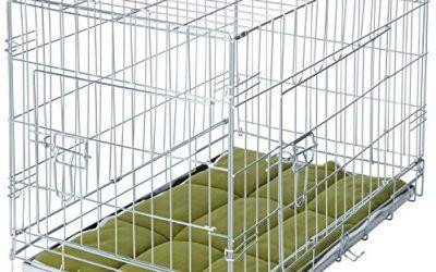 Plegable Perro Jaula Crate con ropa de cama y 2rodillos–Parent ASIN