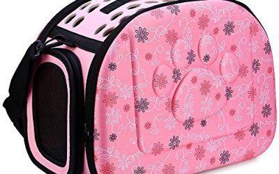 GBlife Portador Bolsa de Transporte Reversible Transportín Plegable para Msacotas Capazos de Perros Gatos(Rosa) , mascotas