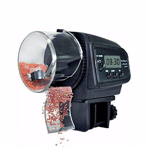 Alimentador Peces Automático,NICREW Dispensador de Comida Acuario, Alimentador Automático de Peces para Acuario con LCD Pantalla e Temporizador para Acuario Pescado