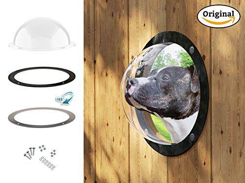 Gardenscout – la portilla con vista al exterior para tu perro, gato e incluso hijo. Hecho de ojo de buey de vidrio acrílico caseta para perro, cercas, casitas de juego, casas del árbol o garajes Ø31,5cm