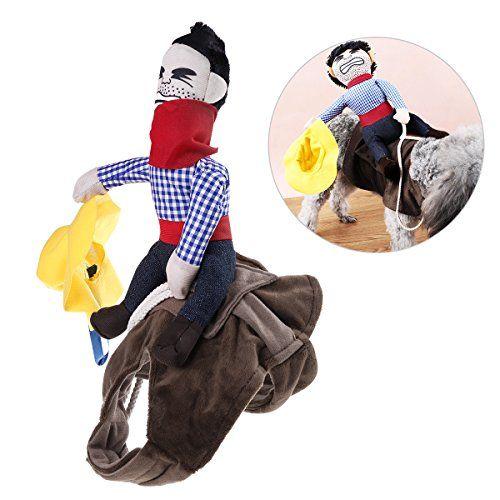 Disfraz de mascota UEETEK, disfraz para perro, ropa de mascota, traje de chubasquero estilo Vaquero, se adapta a perros de peso inferior a 7 kg, talla S