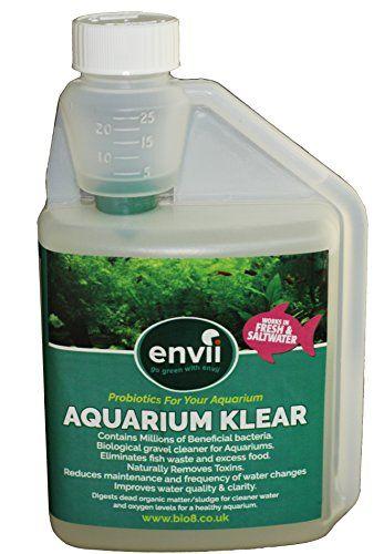 Envii Aquarium Klear – Tratamiento Bacteriano para Algas de Acuario Clarifica el Agua y Grava & Elimina las Algas Verdes – 500 ml