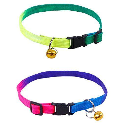Da.Wa 2x Collar Para Mascotas Suministros de Mascotas Para Perros, Gatos Con Campanas Color al Azar
