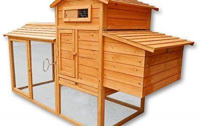 WilTec Conejera gallinero caseta conejos roedores pollos gallinas pequeños animales nidos corredor libre