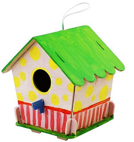 ROBOTIME 3D Rompecabezas De Madera – Casa De Aves Con Pintura Herramientas Niño Educativo Woodcraft rompecabezas de juguete DIY Kit