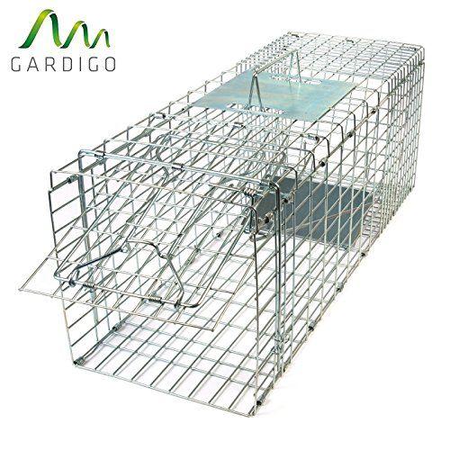 Gardigo – Jaula & Trasportín plegable de metal para mascota   Trampa de captura de animales vivos, gatos, perros, conejos, roedores – 66 x 23 x 26 cm