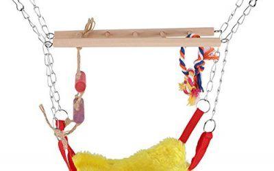 Hamaca de Mascotas de Aves o Loro Juguete Colorido de Escalador Columpio Escalera Accesorios de Decoración deMacota (Rpjo)