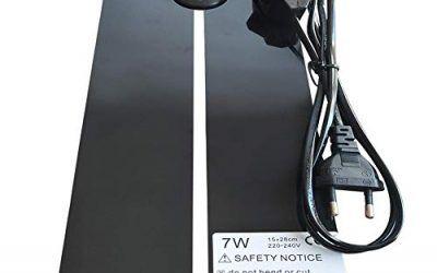 JOHLYE Almohadilla eléctrica para calefacción, Reptile Pet – Calentador de la Almohadilla con Control de Temperatura Almohadilla eléctrica para Reptil 7W